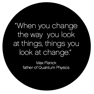 When you change the way you look at things, things you look at change.